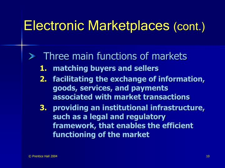 Electronic Marketplaces