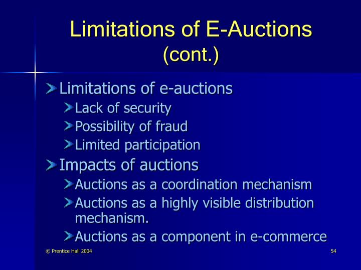 Limitations of E-Auctions