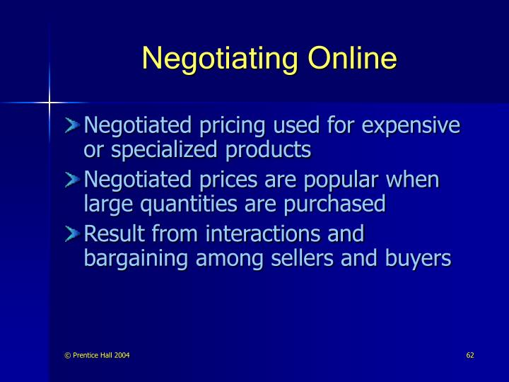 Negotiating Online