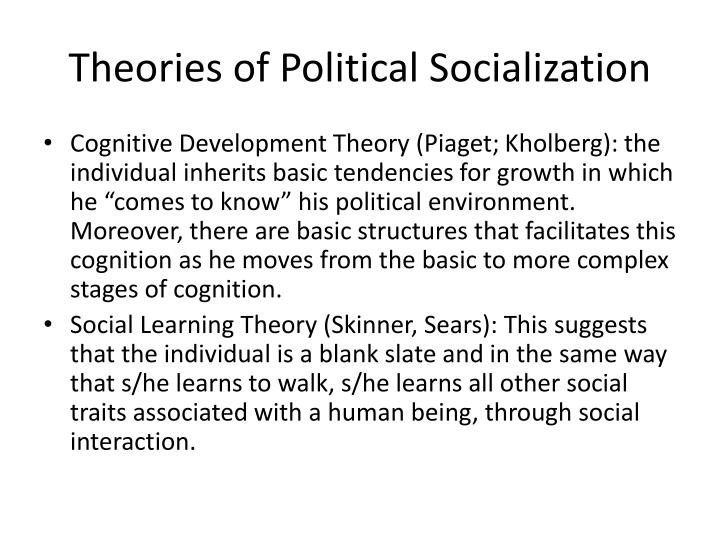 Theories of political socialization