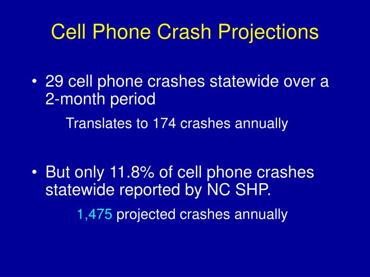 Cell Phone Crash Projections