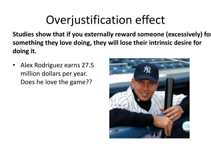 Overjustification effect