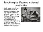 psychological factors in sexual motivation
