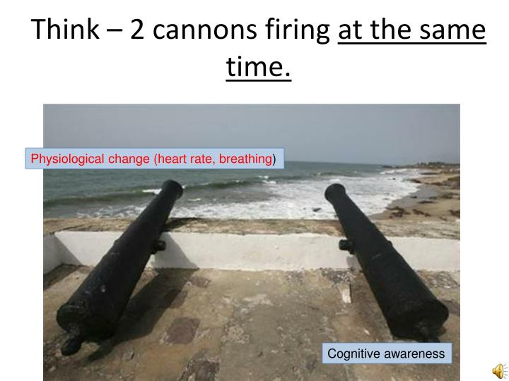Think – 2 cannons firing