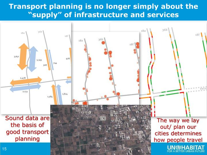 "Transport planning is no longer simply about the ""supply"" of infrastructure and services"