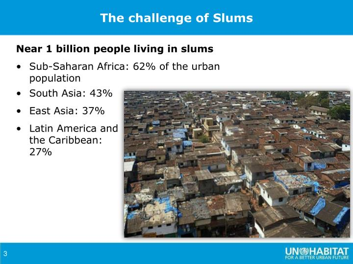 The challenge of Slums