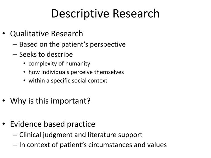 definition of descriptive research pdf
