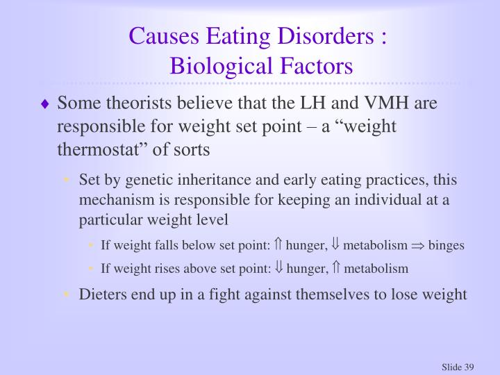 Causes Eating Disorders :