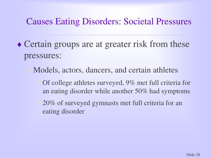 Causes Eating Disorders: Societal Pressures