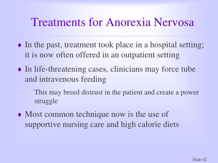 Treatments for Anorexia Nervosa