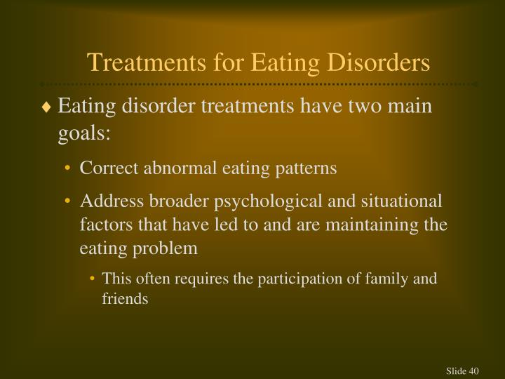 Treatments for Eating Disorders
