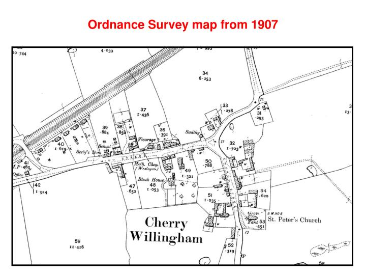 Ordnance Survey map from 1907