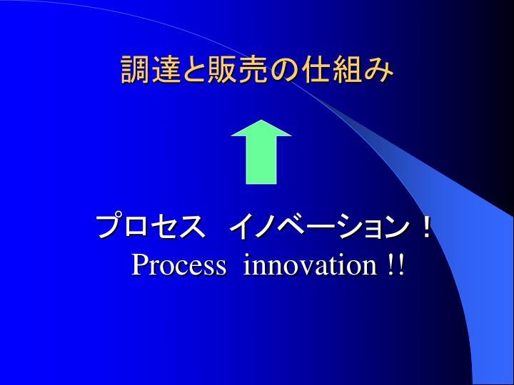 プロセス イノベーション!