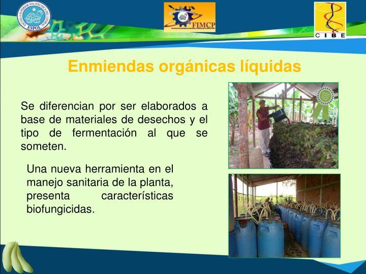 Enmiendas orgánicas líquidas