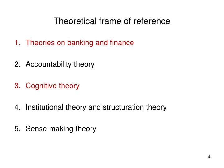 Theoretical frame of reference