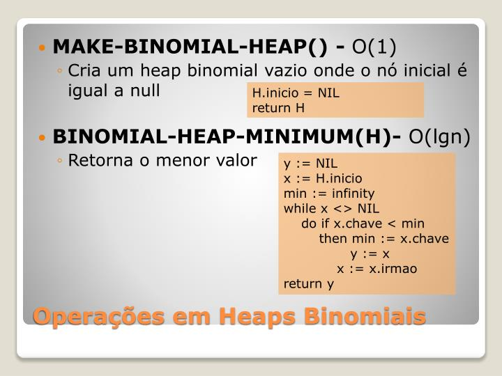MAKE-BINOMIAL-HEAP() -