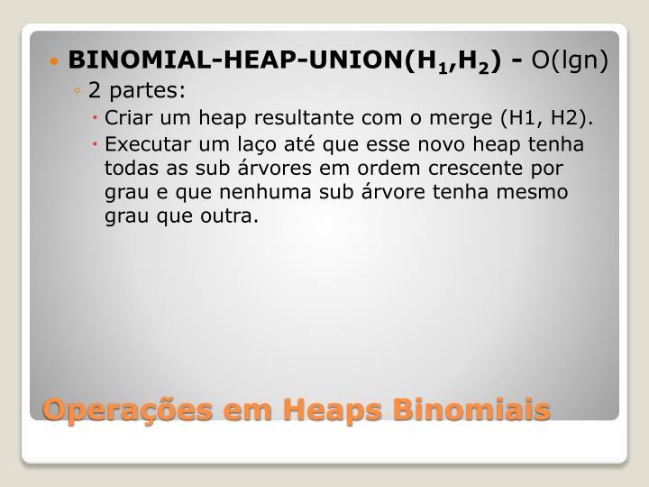 BINOMIAL-HEAP-UNION(H