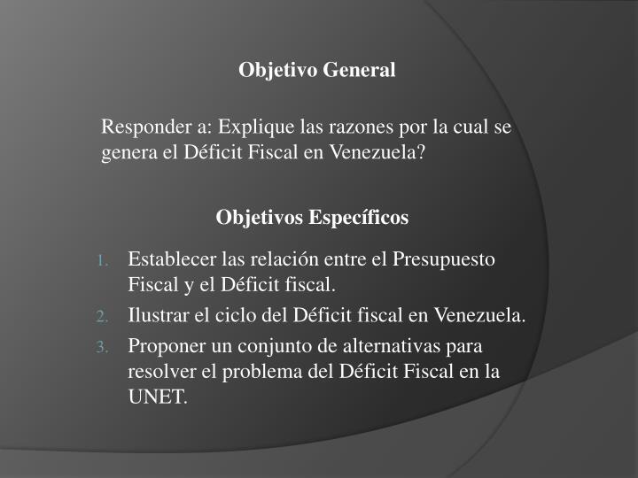 Responder a: Explique las razones por la cual se genera el Déficit Fiscal en Venezuela?