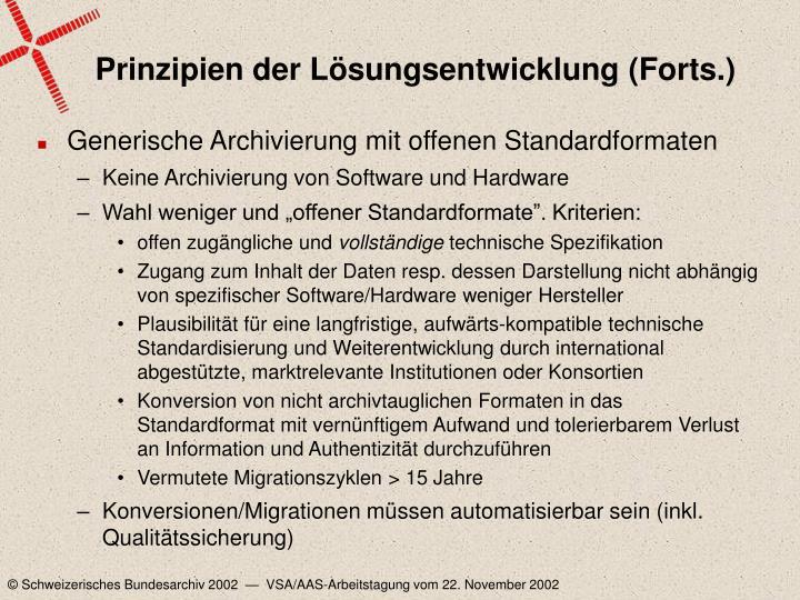 Prinzipien der Lösungsentwicklung (Forts.)