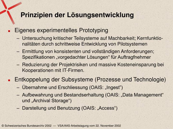 Prinzipien der Lösungsentwicklung