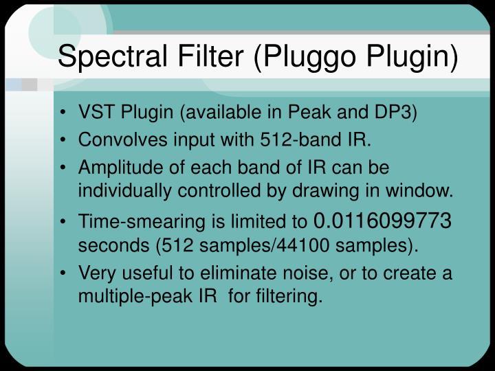 Spectral Filter (Pluggo Plugin)