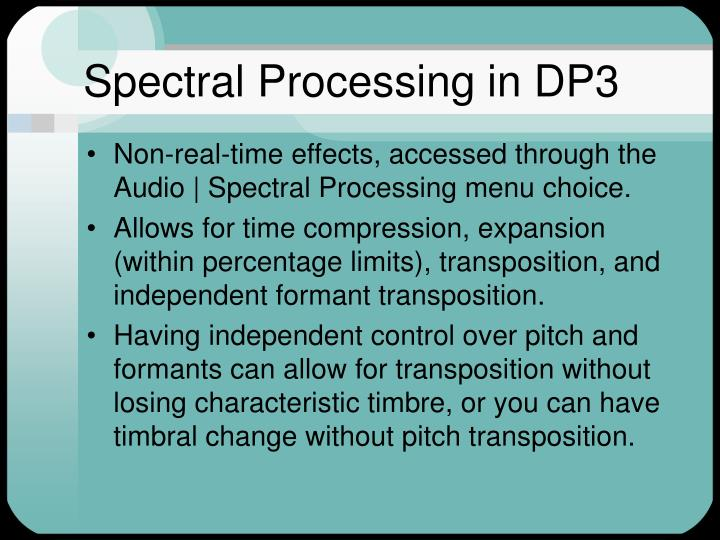 Spectral Processing in DP3