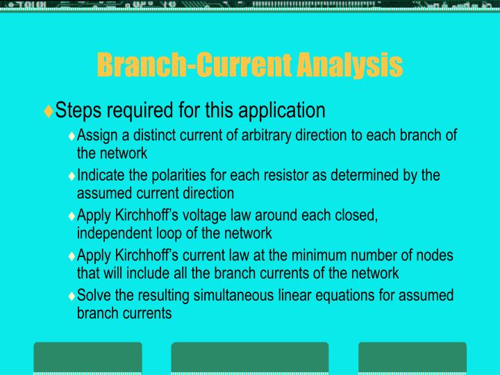 Branch-Current Analysis