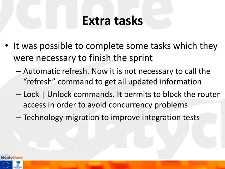 Extra tasks