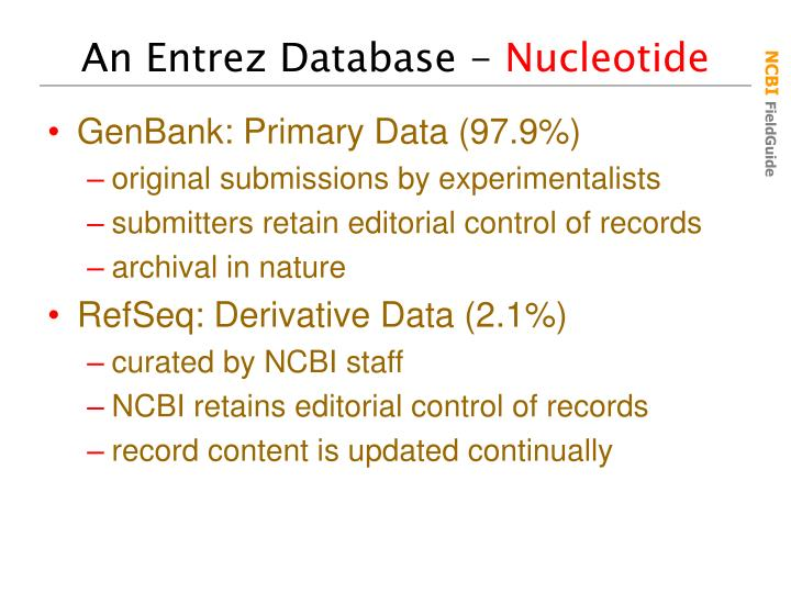 An Entrez Database -
