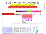blast results for xm 496543