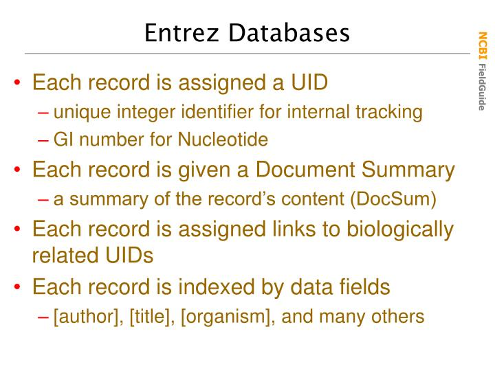 Entrez Databases
