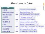 gene links in entrez