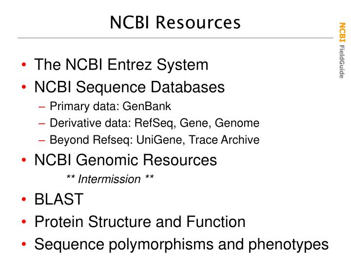 NCBI Resources