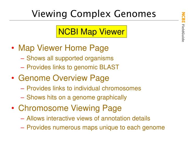 Viewing Complex Genomes