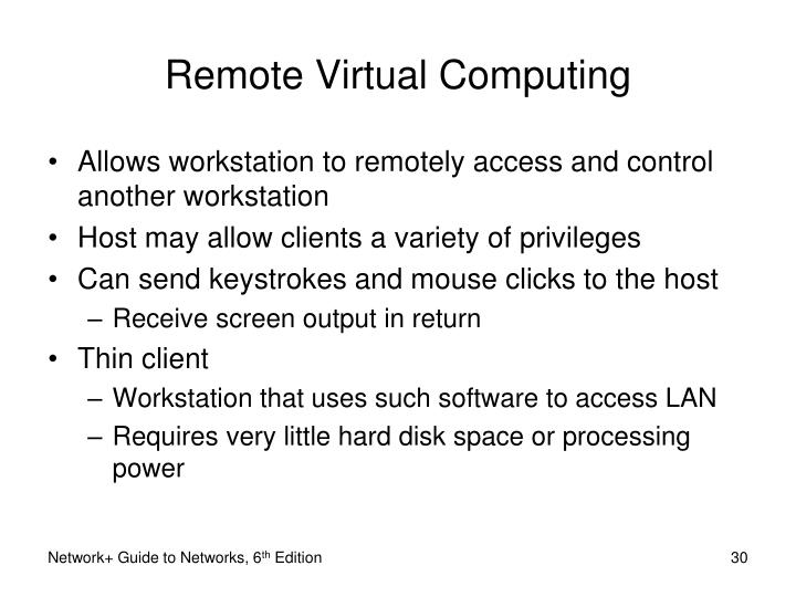 Remote Virtual Computing