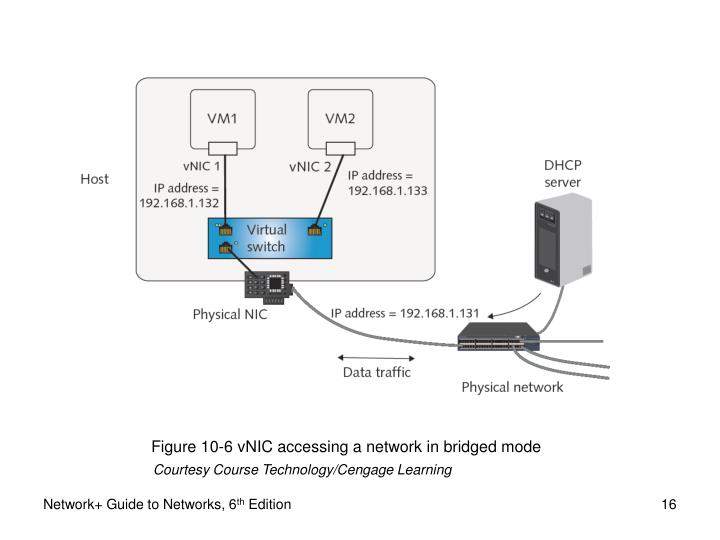Figure 10-6 vNIC accessing a network in bridged mode