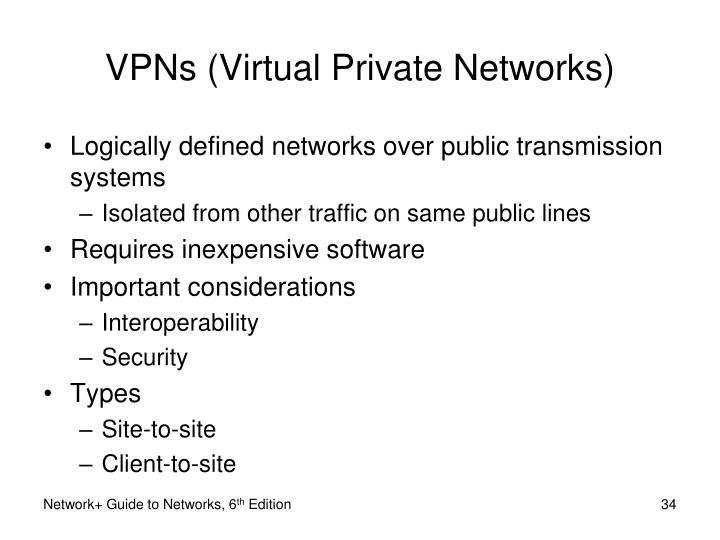 VPNs (Virtual Private Networks)