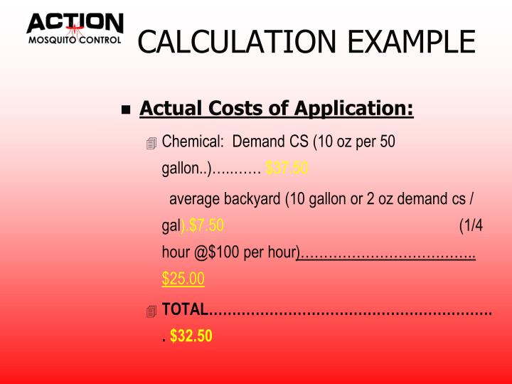 CALCULATION EXAMPLE