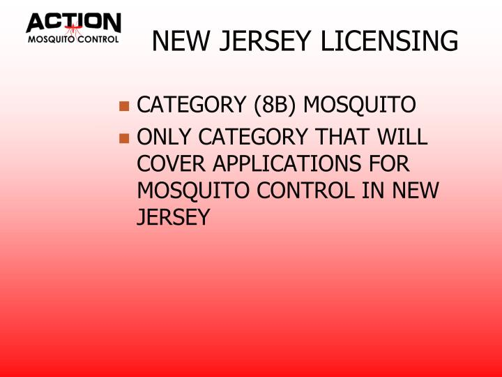 NEW JERSEY LICENSING