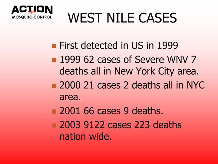 WEST NILE CASES