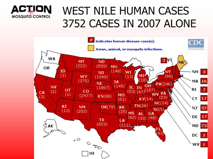 WEST NILE HUMAN CASES