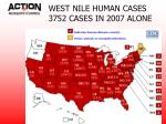 west nile human cases 3752 cases in 2007 alone
