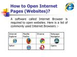 how to open internet pages websites