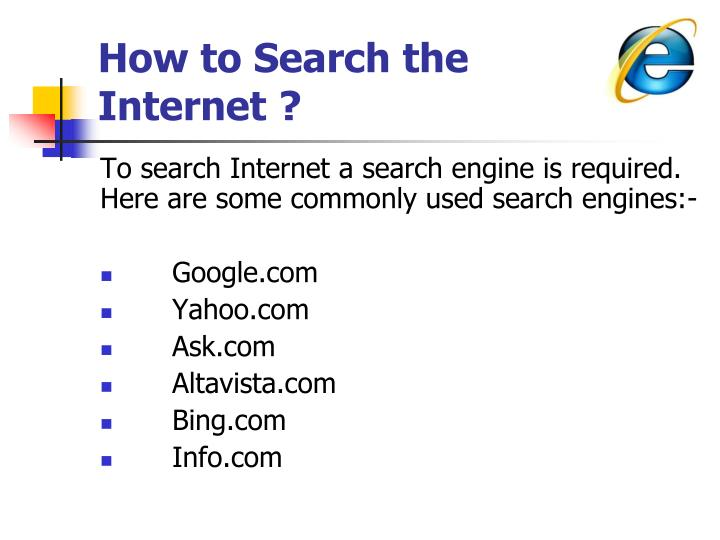 How to Search the