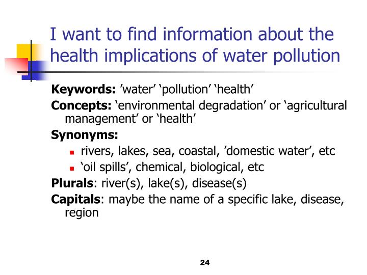 I want to find information about the health implications of water pollution