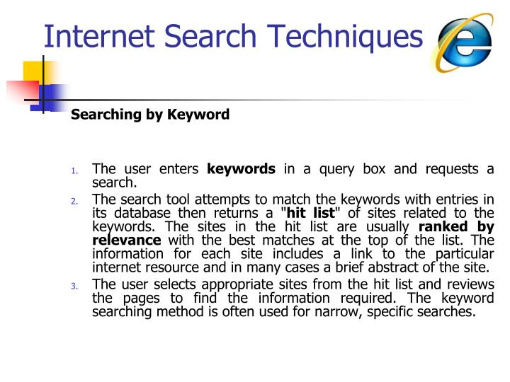 Internet Search Techniques