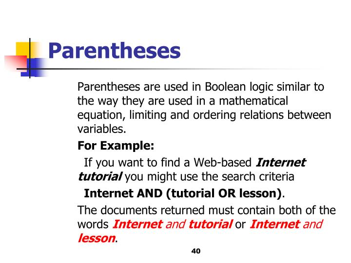 Parentheses