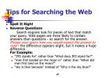 tips for searching the web1