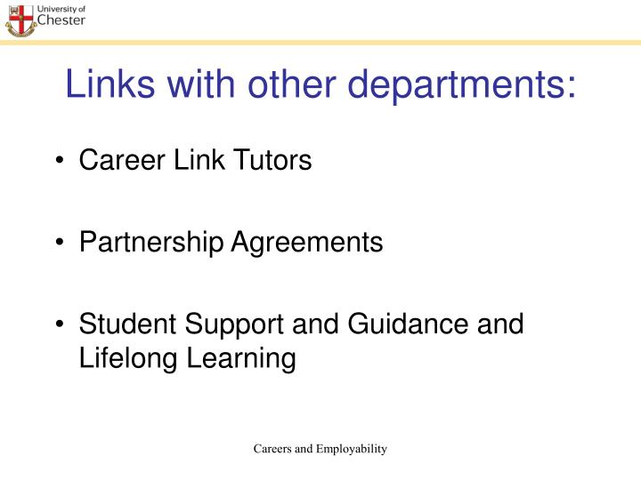 Links with other departments: