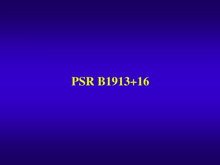 PSR B1913+16